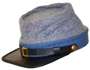 Confederate Grey Infantry Kepi With Blue Trim